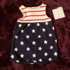 NWT Starting Out BABY Stars & Stripes Romper